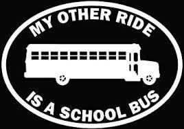 Amazon Com My Other Ride School Bus Car Truck Window Bumper Vinyl Graphic Decal Sticker 15 Inch 38 Cm Wide Gloss Black Color Automotive