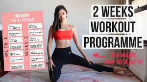 2 weeks workout program to lose weight