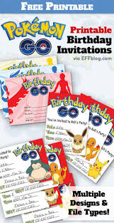 Pokemon Go Birthday Go Free Printable Invitations Nachitos Bday