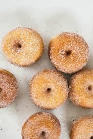 raised mini donuts coated with sugar