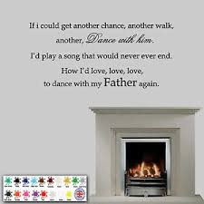 Dance With My Father Again Wall Sticker Memorial Wall Quote Decal Ebay