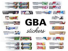 Custom Gba Vinyl Stickers Nintendo Game Boy Advance Etsy
