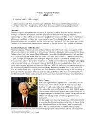 PDF) Wesley Kingston Whitten 1918–2010