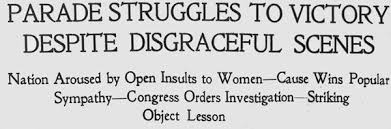 Image result for public sympathy for a women's suffrage bill.