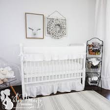 crib bedding neutral white baby bedding