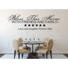 Wall Decal Bless This Home Friends Family 2