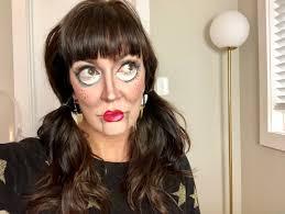 creepy doll halloween makeup tutorial