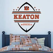 Shop Cincinnati Bengals Wall Decals Graphics Fathead Nfl Boys Room Decor Cincinnati Bengals Football Bedroom