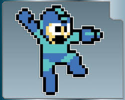 Megaman Jumping Blast Vinyl Decal Sticker 4 Mega Man 8bit Vinyl Decal Stickers Vinyl Decals Mega Man