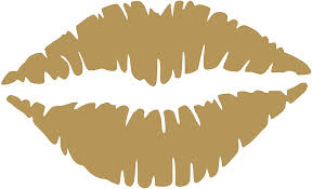 Amazon Com Leopro Kiss Mark Lips Vinyl Sticker Decal Gold 4 X 2 5 Home Kitchen