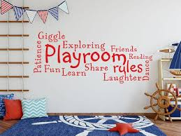 Playroom Rules Wall Art Quote Decal Modern Transfer Etsy