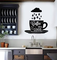 Vinyl Wall Decal Coffee Quote Shop Cup Beans Kitchen Stickers Mural Un Wallstickers4you