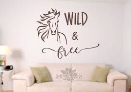 Horse Wall Decal Wild And Free Free Spirit Run Wild And Free Horse Decal Horse Wall Art