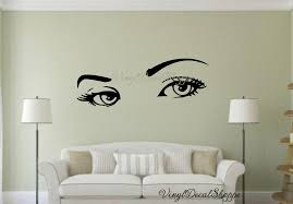 Sexy Eyes Wall Decal Eyes Wall Decal Living Room Decal Large Wall Decal Wall Decor Wall Mural Custom Wall Decal Beauty Salon Logo