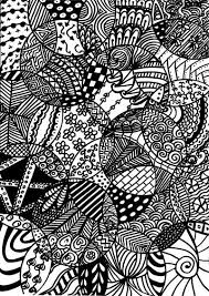 Free Adult Doodle Coloring Printable Vector Download Gratis