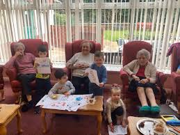 Nursery children visit care home for Storytelling Week | North East  Connected
