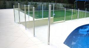 aluminum barade glass pool fencing