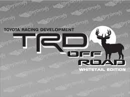 Toyota Trd Off Road Whitetal Edition Decal Stickers