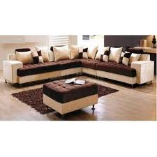 cream brown corner sofa set rs 10000