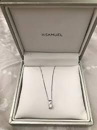 h samuel white gold diamond necklace