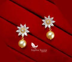 ze22 daphne zircon designer earrings