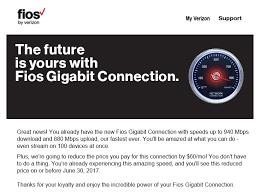 verizon s gigabit upgrade pricing still