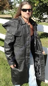 split motorcycle duster trench coat