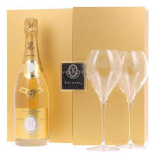 louis roederer cristal brut with two