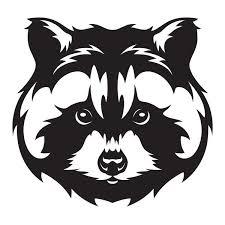 A Raccoon Critter Woods Animal Vinyl Cut Decal Sticker Crown Decals