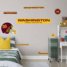 Washington Football Team Realbig Logo Officially Licensed Nfl Removable Wall Decal