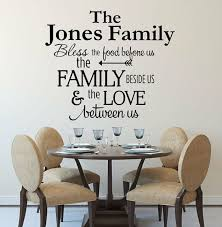 Bless The Food Before Us Personalized Family Name Kitchen Vinyl Wall Decal 36 For Sale Online