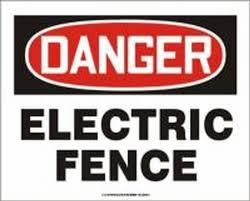 Osha Danger Safety Sign Electric Fence Madm033vs