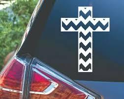 Chevron Cross Christian Jesus Car Truck Tumbler Vinyl Decal Sticker Ebay