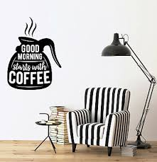 vinyl decal wall sticker words on coffee pot quotes about coffee