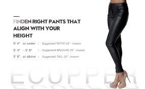 ecupper womens black faux leather pants