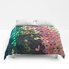 black sequin pattern comforters