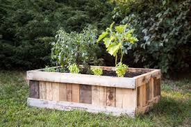 diy raised garden bed upcycled wood