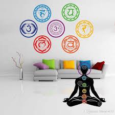 19x19cm Chakras Wallpaper Stickers Mandala Yoga Om Meditation Symbol Wall Decal Home Wall Decoration Wall Decal Stickers Wall Decal Tree From Lihualin033 8 05 Dhgate Com