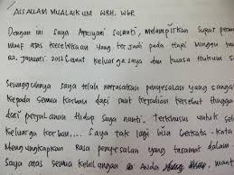 Ini Isi Surat Permintaan Maaf Dan Penyesalan Afriyani