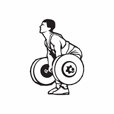 Weight Lifting Wall Decal Vinyl Decal Car Decal Dc 004