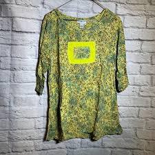 ivy reed Tops   Medium Boho Artsy Rayon Shirt 3685   Poshmark