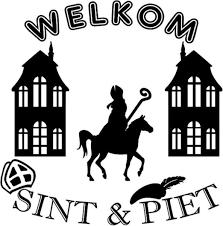 Bol Com Welkom Sint Piet Sticker Sinterklaas Op Paard Rosami