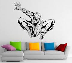 Spiderman Wall Decal Vinyl Stickers Comics Superhero Interior Etsy