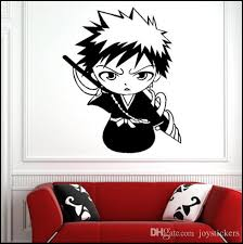 Decal Removable Home Decor Vinyl Decal Cartoon Q Style Bleach Outline Sketch Baby Room Anime Sticker Wall Paper Wall Sticker New Wall Decors Wall Design Stickers From Joystickers 15 37 Dhgate Com