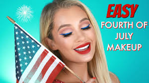 easy fourth of july makeup tutorial
