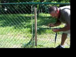 How To Stretch A Chain Link Fence Youtube