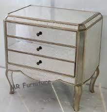 3 drawer bedside table wooden