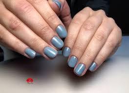 Grey Nails Hybrid Nails Hybrydowe Paznokcie Krotkie Paznokcie