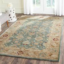 safavieh antiquity teal blue taupe 6 ft