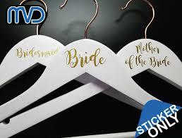 Home Garden Other Wedding Supplies Personalised Vinyl Wedding Coat Hanger Decal Sticker Bridesmaid Groom Stickers